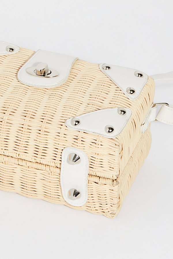 Slide View 5: Retro Mini Straw Bag