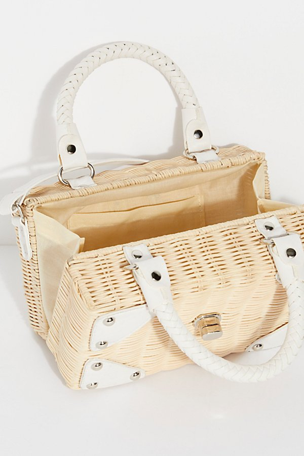Slide View 6: Retro Mini Straw Bag