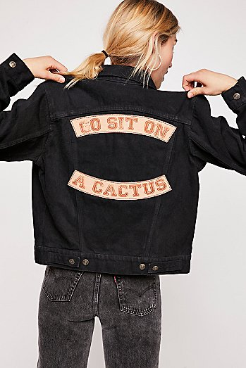 Go Sit On A Cactus Denim Jacket