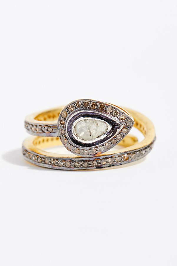 Slide View 1: Rose Cut Diamond Snake Ring