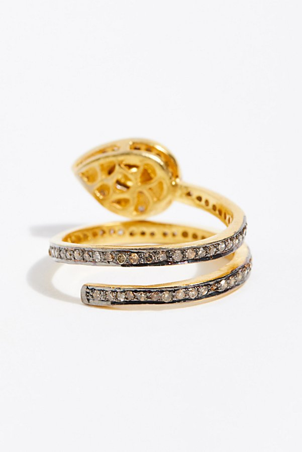 Slide View 3: Rose Cut Diamond Snake Ring