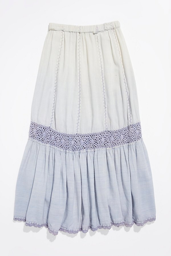 Slide View 1: Vintage 1970s Overdyed Cotton Skirt