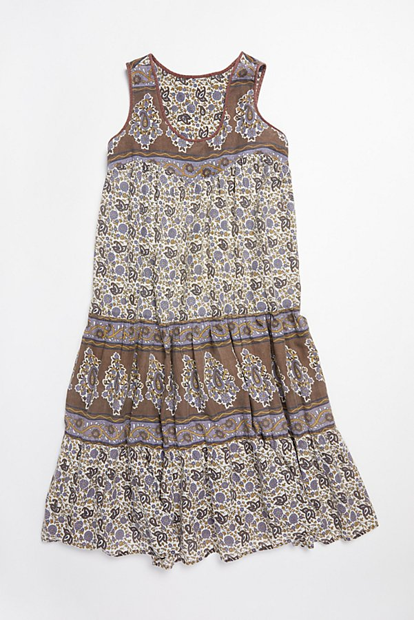 Slide View 1: Vintage 1980s Printed Cotton Dress