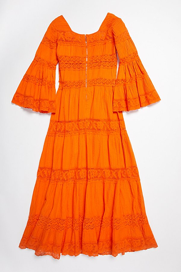 Slide View 3: Vintage 1970s Overdyed Pintuck Dress