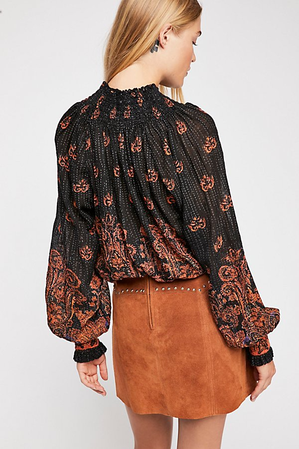 Slide View 2: FP One Smocked Paisley Top