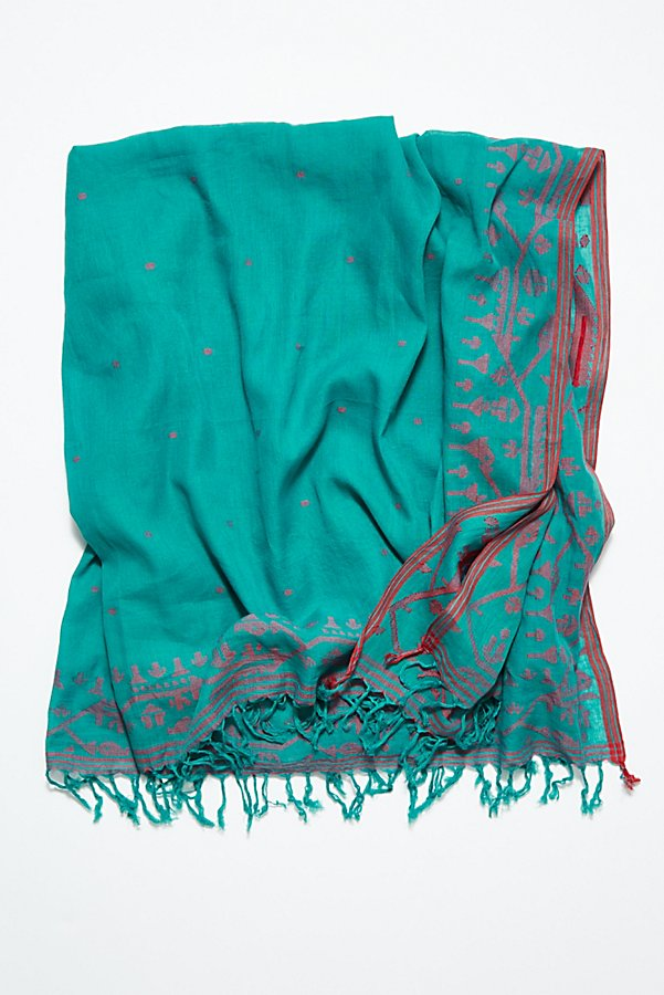 Slide View 3: Jamdani Handloom Cotton Scarf