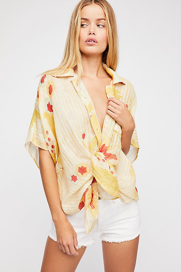 Slide View 2: Beach Blossom Printed Cover-Up
