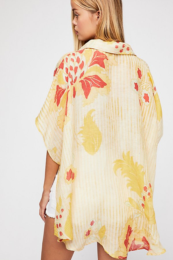 Slide View 3: Beach Blossom Printed Cover-Up
