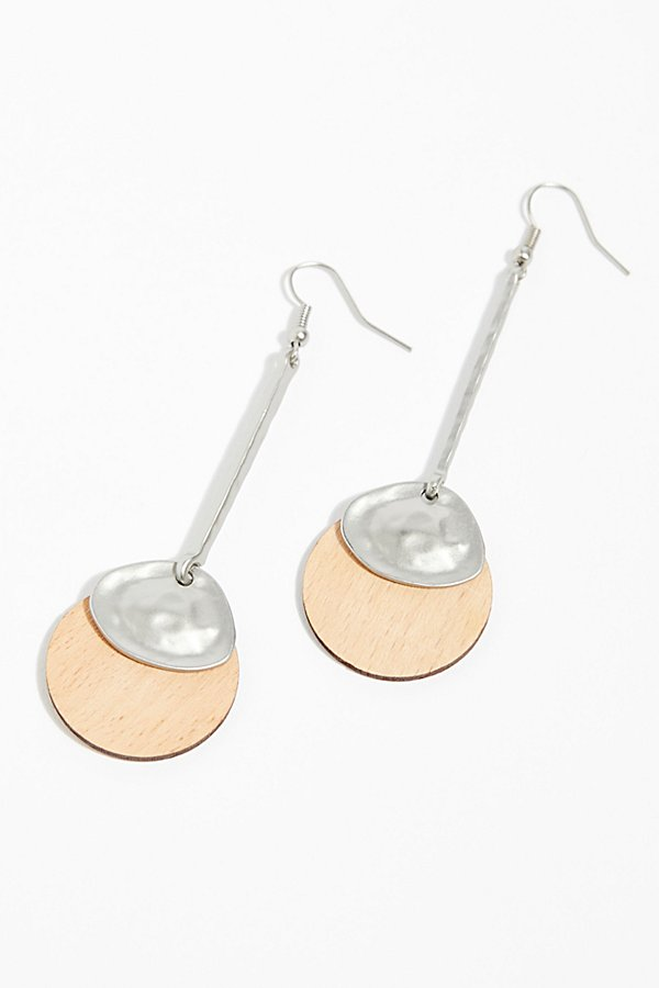 Slide View 3: Wood Pendulum Earrings