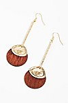 Thumbnail View 2: Wood Pendulum Earrings