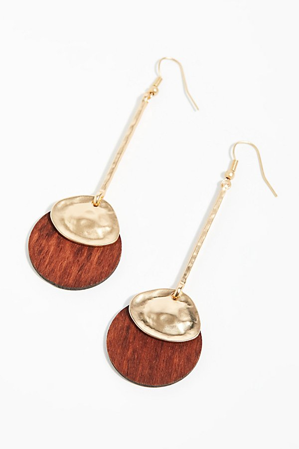 Slide View 2: Wood Pendulum Earrings