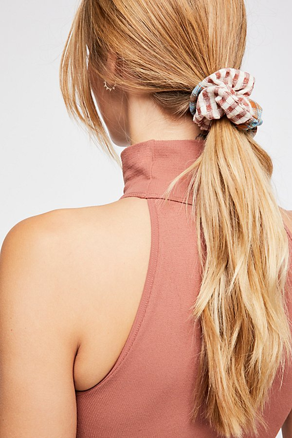 Slide View 1: Mix Plaid Scrunchie