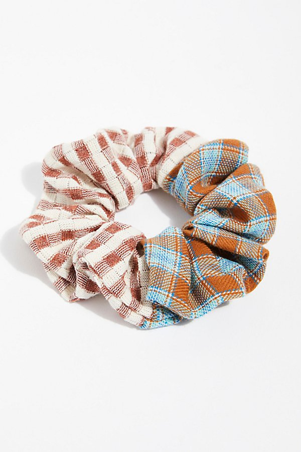 Slide View 2: Mix Plaid Scrunchie