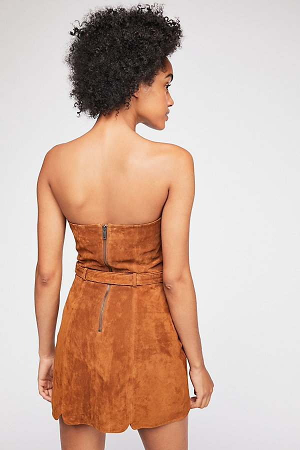 Slide View 3: Bet On It Suede Mini Dress