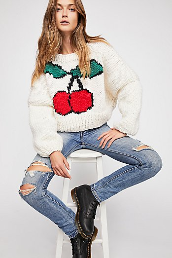 Cherry Pullover Sweater