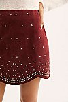 Thumbnail View 3: Studded Suede Mini Skirt