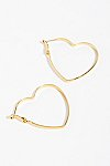 Thumbnail View 2: Mia Heart Hoop Earrings