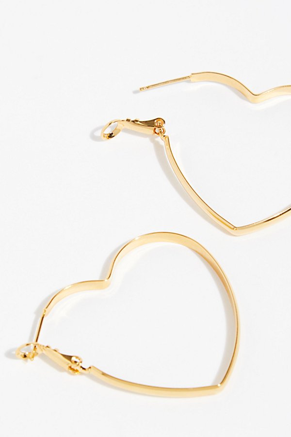 Slide View 3: Mia Heart Hoop Earrings