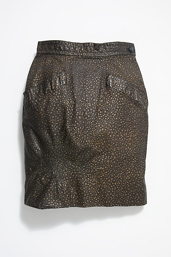 Slide View 1: Vintage Pebble Leather Skirt