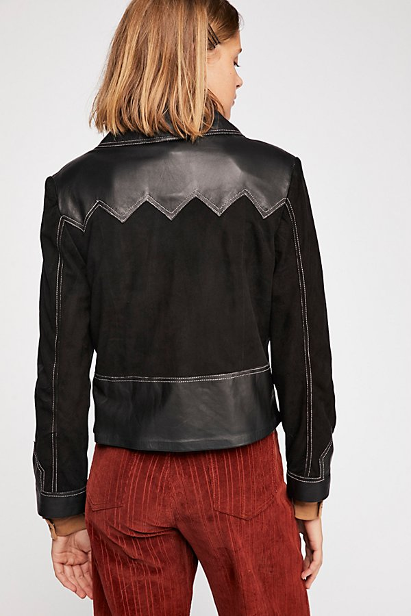 Slide View 3: Western Leather Jacket