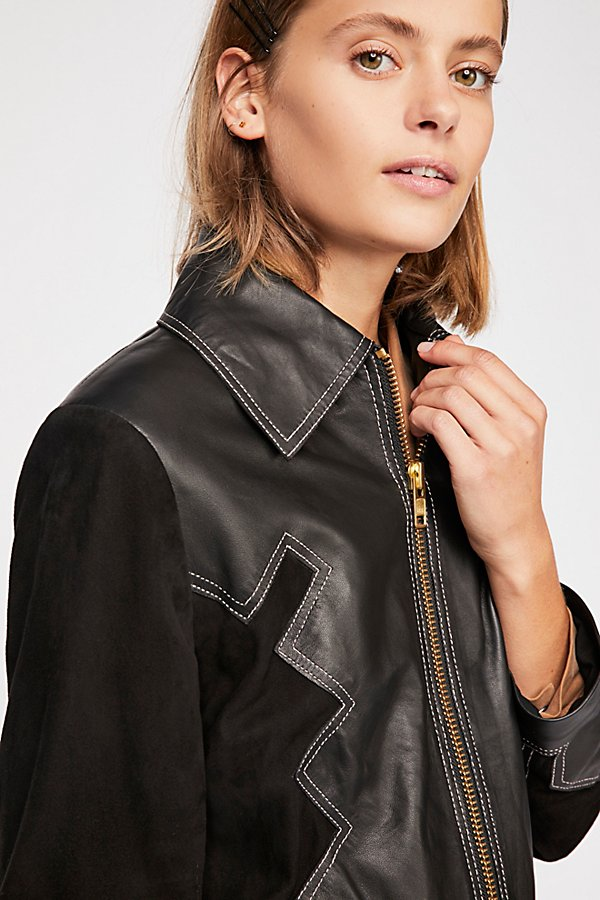 Slide View 4: Western Leather Jacket