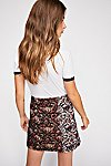 Thumbnail View 2: Mixed Knit Jacquard Mini Skirt