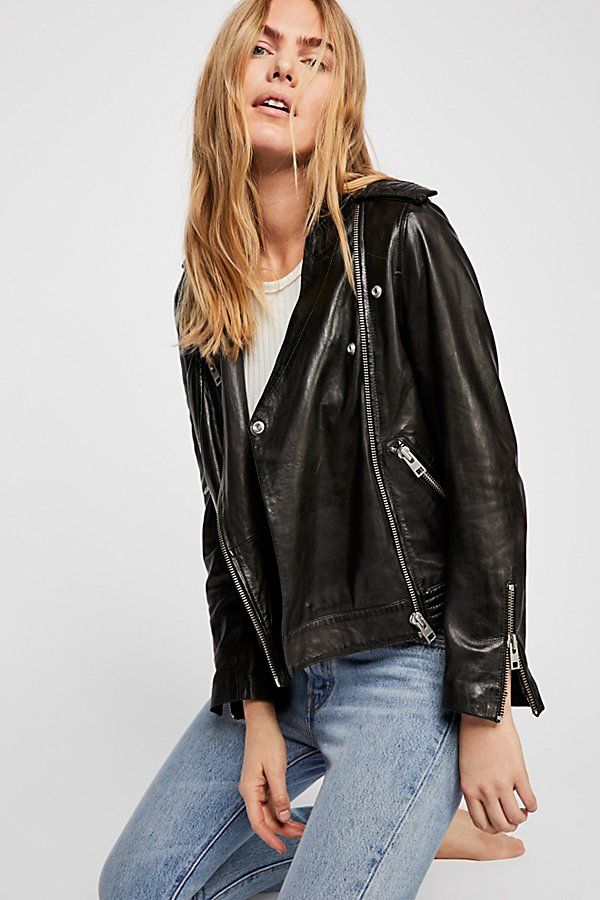 Slide View 1: Loon Moto Leather Jacket