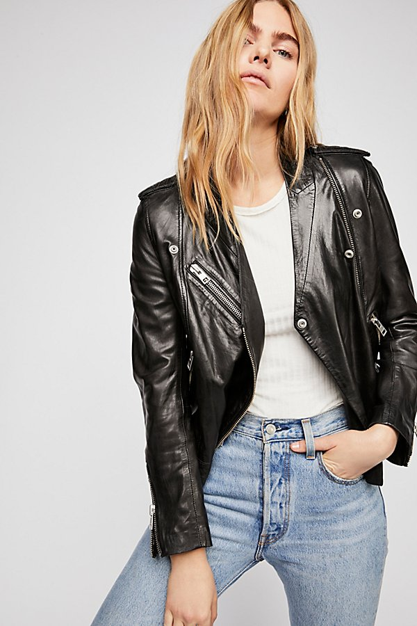 Slide View 2: Loon Moto Leather Jacket