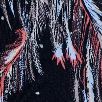 黑色羽毛印花