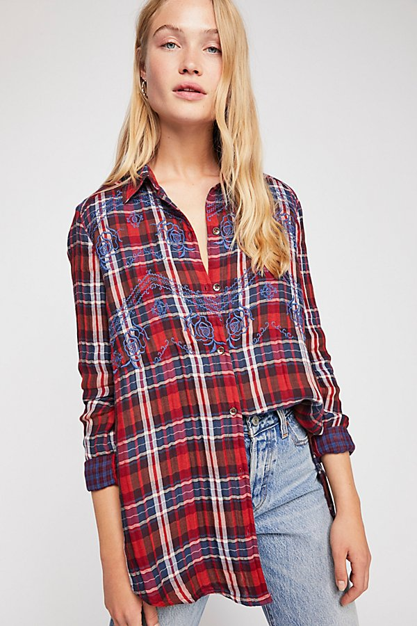 Slide View 2: Magical Plaid Buttondown Top