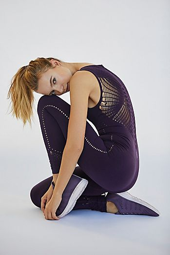 Purple One Piece Workout Bodysuits Jumpsuits Onesies Free People