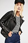 Thumbnail View 1: Vegan Leather Moto Jacket