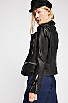 Thumbnail View 2: Vegan Leather Moto Jacket