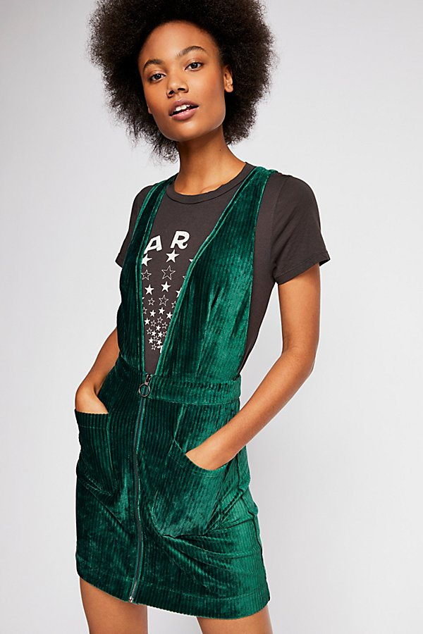 Slide View 1: Zip Up Pinafore Dress