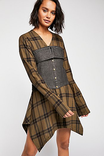 Corset Plaid Shirt