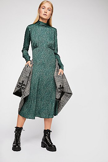 Loveless Printed Midi Dress