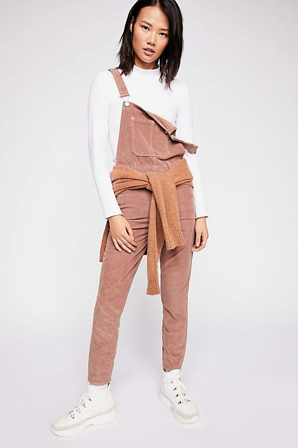 Slide View 1: Slim Ankle Cord Overalls