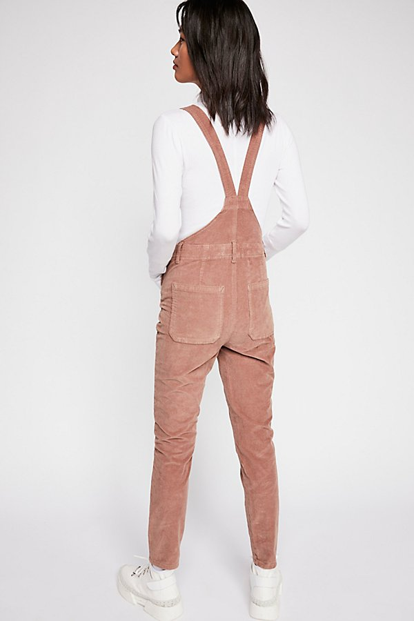 Slide View 3: Slim Ankle Cord Overalls