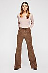 Thumbnail View 1: Hip-Hugging Flare Cord Trousers