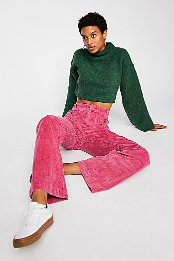 Hip Hugging Flare Cord Trousers
