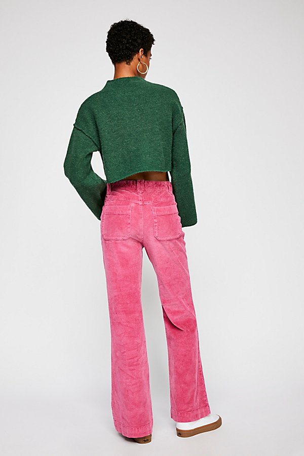 Slide View 2: Hip Hugging Flare Cord Trousers