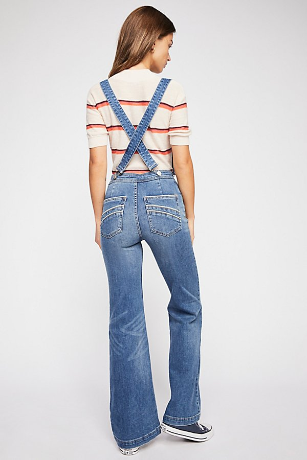 Slide View 3: Suspender High Rise Flare Jeans