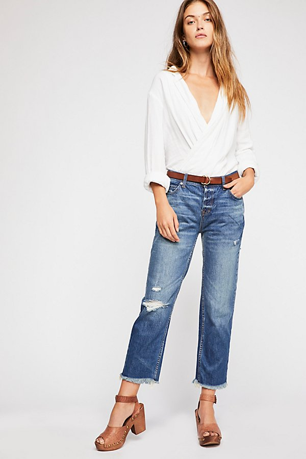 Slide View 1: Low Slung Boyfriend Jeans