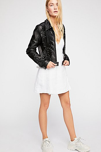 Memphis Studded Vegan Jacket