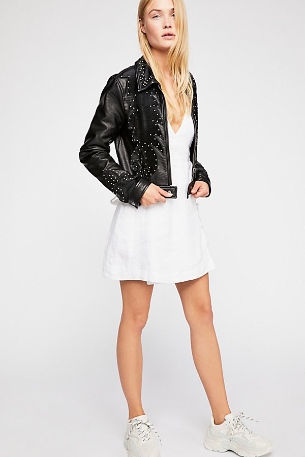 Slide View 1: Memphis Studded Vegan Jacket