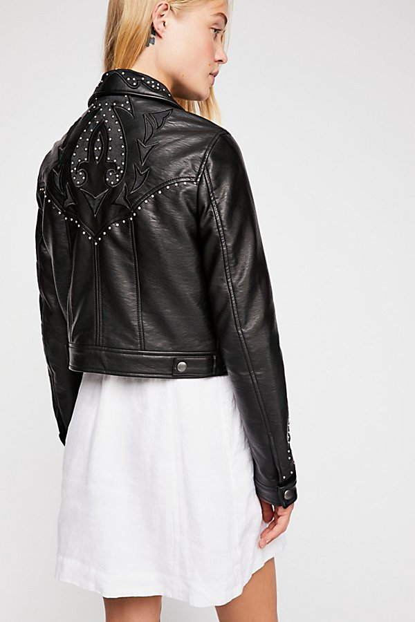 Slide View 3: Memphis Studded Vegan Jacket