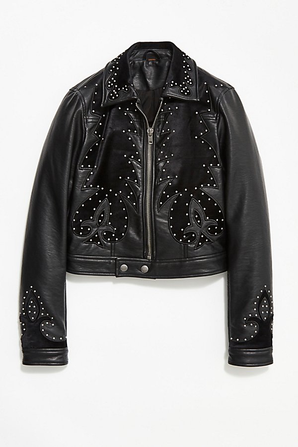 Slide View 4: Memphis Studded Vegan Jacket