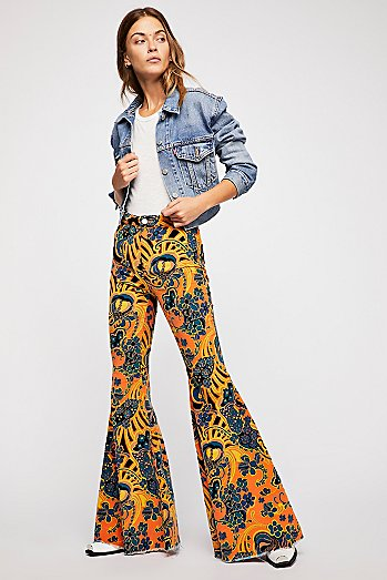 Just Float On Printed Cord Flares