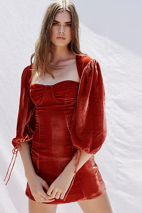 Velvet Bustier Mini Dress | Free People
