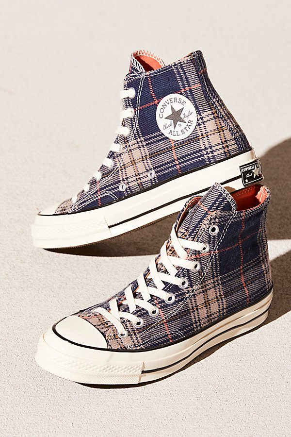 Slide View 1: Plaid Hi-Top Chuck
